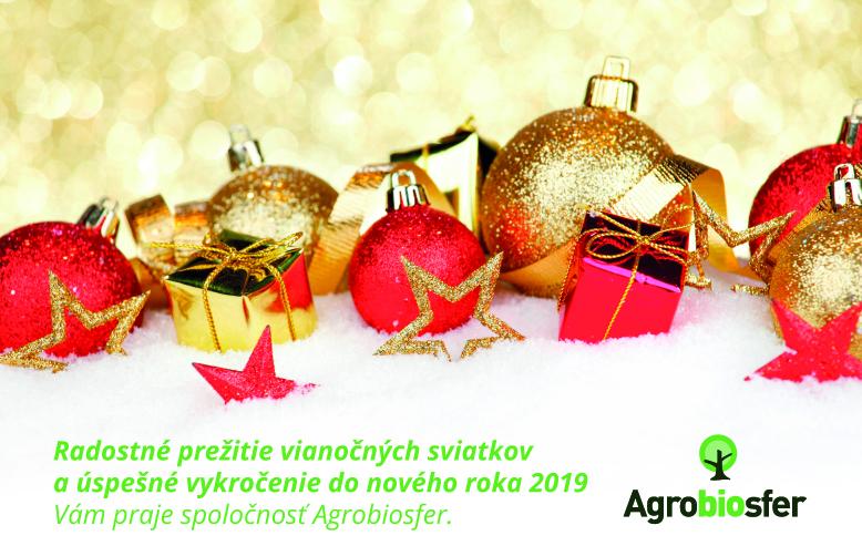Príjemné prežitie Vianočných sviatkov a všetko dobré do Nového roka 2019 !